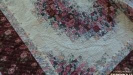 Лоскутное покрывало Розовая акварель