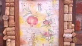 Картина Гранат декор пробками