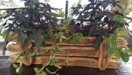 Кашпо деревянные для цветов
