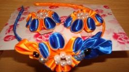Обруч 2 резинки в стиле канзаши