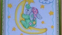 Метрика детская Зайчик на луне