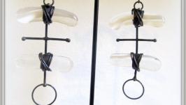 Сережки вітражні ручної роботи