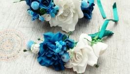 Бутоньерка и цветочный браслет