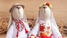 Пара зайчиков УкраЇнське весілля