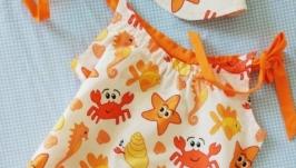 Пляжный комбинезон - ромпер Mrs.Crabs