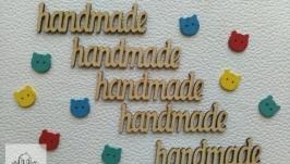 Деревянные надпись HANDMADE