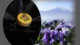 Вышитое кольцо Сильвер Бриз