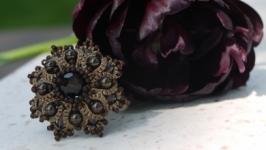 Перстень Черный цветок