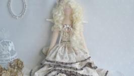 Кукла Тильда Ангел. Тирамису.