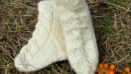 Шкарпетки із ангорської напіввовни