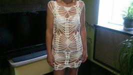 платье пляжное сетка