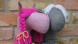 Мяка іграшка. Конячка рожева. Ручна робота.