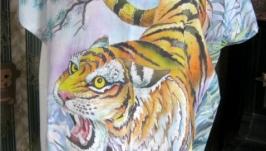 Туника Тигр авторская раб. батик,батист