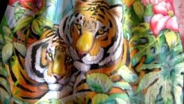 Юбка Тигры авторская раб. батик,макси