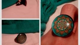 Перстень бірюзова мандала
