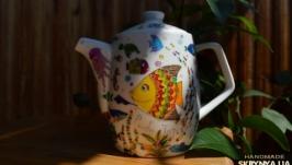 Чайничек с витражной росписью
