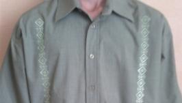 Сорочка(рубашка) чоловіча, літо, ручна вишивка