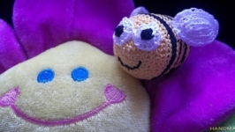 Амигуруми-погремушка Пчелка