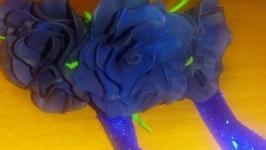 Браслет черная роза