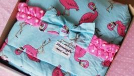 Легкое летнее одеяло 3 в 1 Pink Flamingo