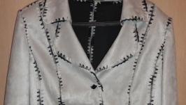 Жакет нарядный, ручная работа, Эксклюзив, размер 56