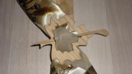Заколка для шали и трикотажа Листок Клена