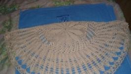 Болеро-накидка осенне-зимнее вязанное крючком