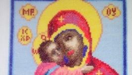 Вышитая крестом икона