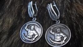 Сережки жіночі ′КОЗАК′ (срібло)