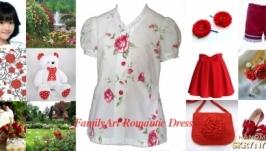 Блузка Шика (красные розы)