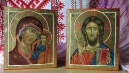 Иконы венчальная пара Иисус Христос и Богородица