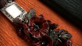 Браслет-часики ′Черные маки′