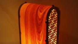 Светильник-ночник ′Высокий′ из натурального шпона