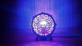 Светильник-ночник ′Боченок′ из натурального шпона