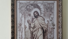 вишита картина Ісус стукає в двері