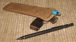 Шкіряний чохол для ручок Дощ #r122