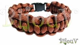 Паракорд. Плетение кобра (коричневый)