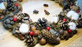 Интерьерный венок в эко-стиле ′Дары леса′