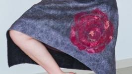 Юбка валяная ′Роза цветет′