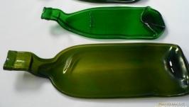 Бутылка плавленная согнутая