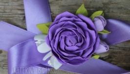 Бутоньерка-браслет с розой Прованс
