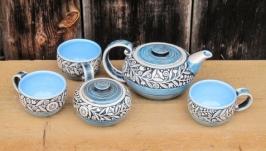 Чайний набір ′Вінок′ кобальт