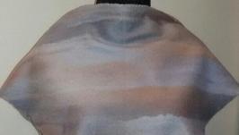 Валяный платок бактус из шерсти