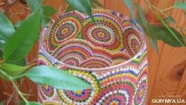 Стеклянная ваза (роспись ′Point-to-point′) в подарочной упаковке