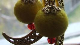 Серьги ′Желтая луна′