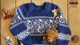 Детский свитер ′Снеговичок′