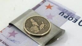 Зажим для денег с монетой 1 DOLLAR USA САКАГАВЕЯ - Делаверский договор 1778
