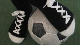 Вязаные носки-кеды