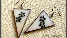 Сережки вітражні трикутні