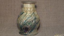 Подсвечник- ваза ′Перья павлина′